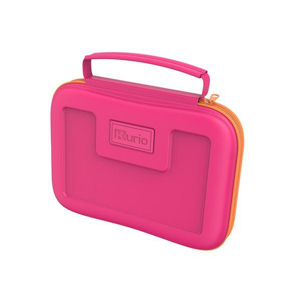 Roze kurio tablet reiskoffer