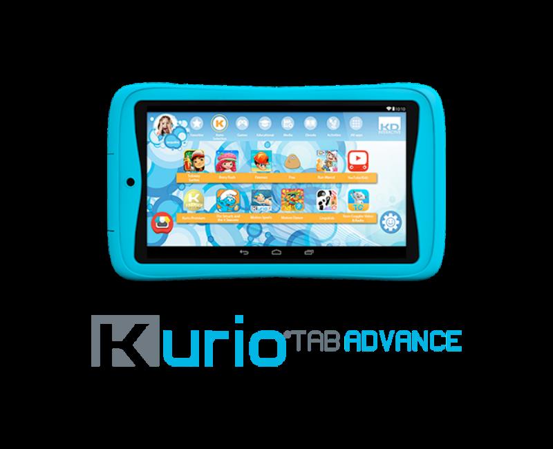 Voorbeeld foto blauwe kurio tablet