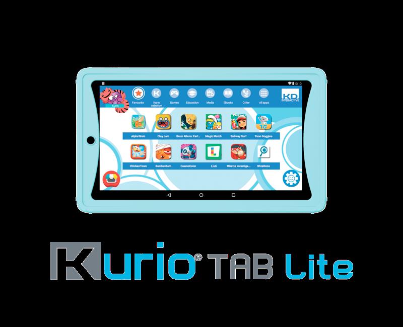 Voorbeeld foto lichtblauw kurio tablet